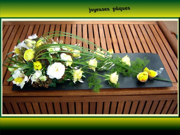 joyeuses p ques art floral. Black Bedroom Furniture Sets. Home Design Ideas