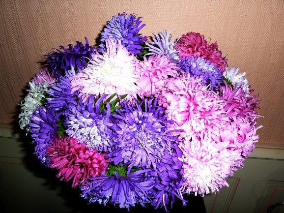 Merci pour les fleurs Marie