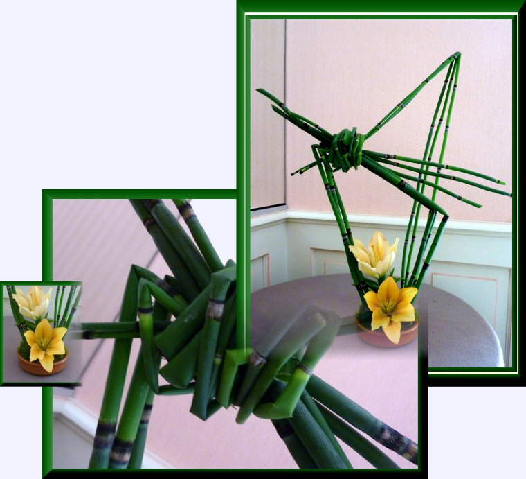 Juste de la prêle et 2 fleurons de lys