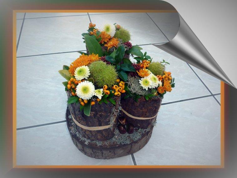 Je vous présente mon trio avec de nouvelles fleurs du jardin