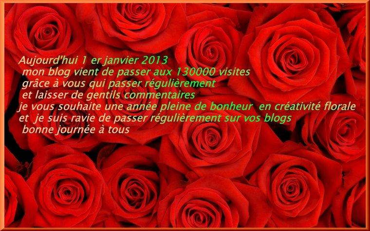 130000 Visites en ce 1er janvier 2013, Créadisa 53 vient d'exploser le compteur, merci à vous tous