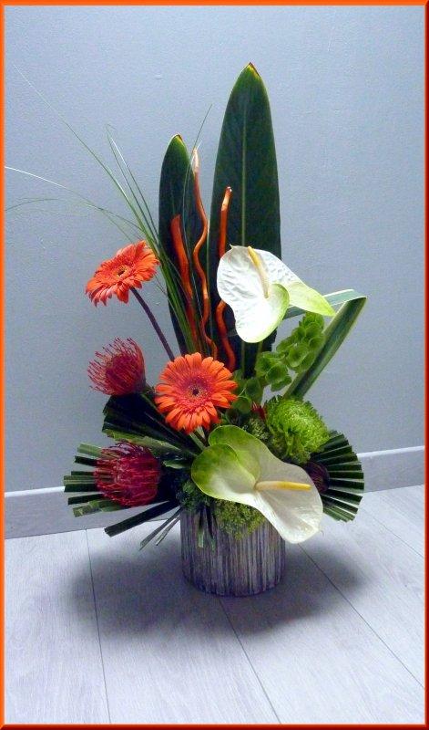 Une réalisation que j'ai réalisé, un grand merci à Simone et Alain pour les fleurs offertes.