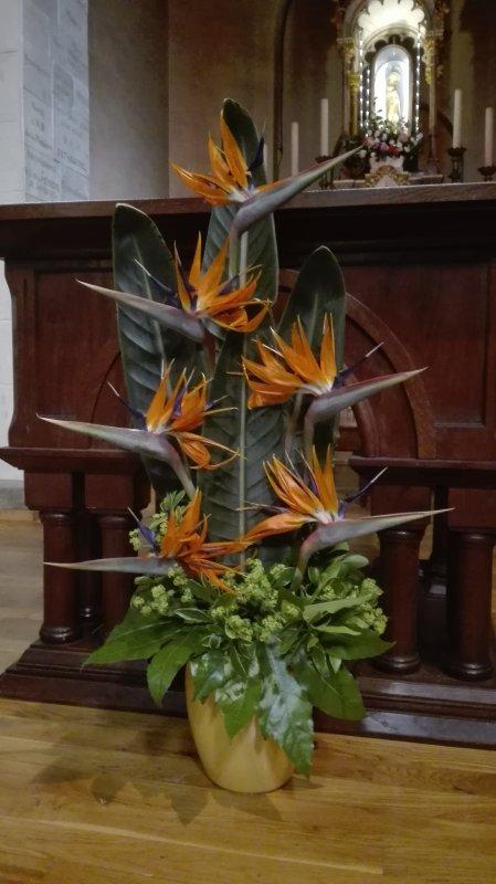 bouquet devant autel