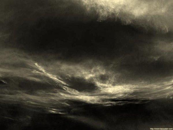 Les pupilles tournées vers les nuages