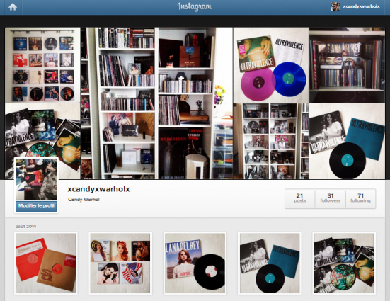 Instagram et Discogs