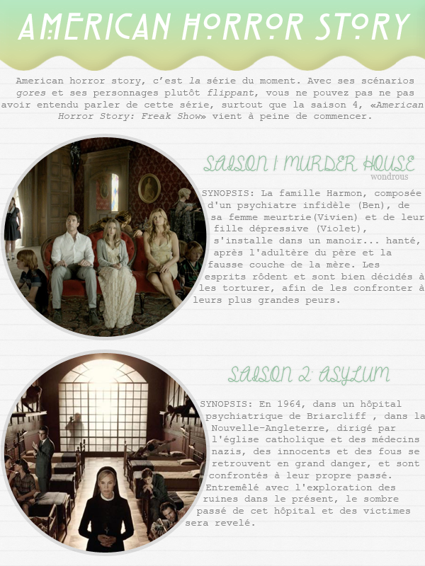 #1 - American Horror Story: la série du moment.