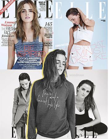 #3 - ELLE UK issue de décembre 2014 // Sujet: féminisme & Emma Watson.
