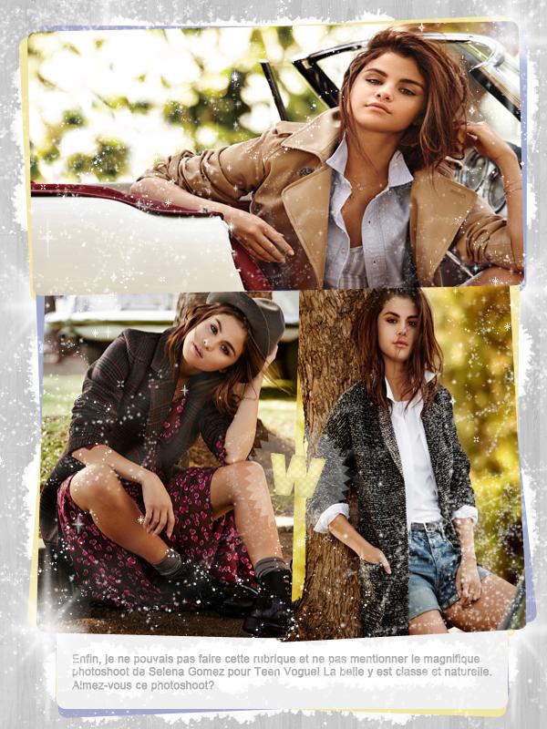 #8 - Photoshoots coup de coeur: Emma Roberts, Shay Mitchell et Selena Gomez.
