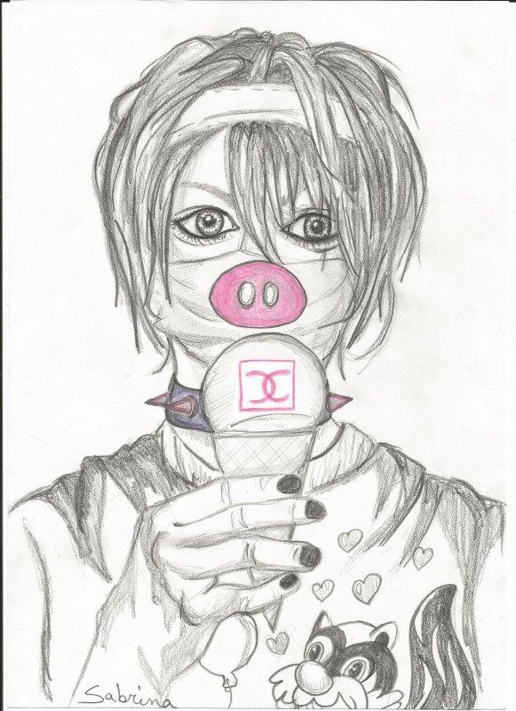 Test de mes nouveaux crayons de graphic avec ce dessin de Takeru de Sug ! ♥