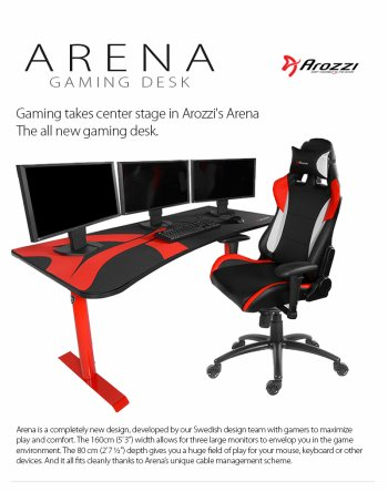 *    Arozzi Arena : un bureau pour les gamers !    *