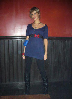 Robe bleu marine noir