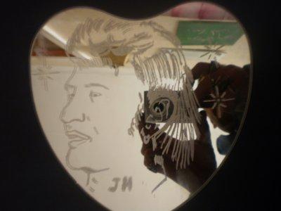 un autre passe temp gravure sue miroir