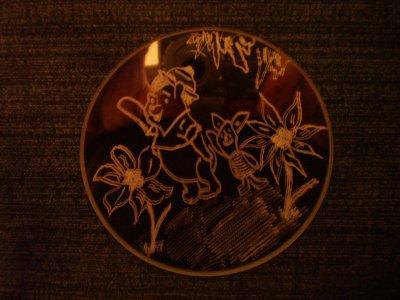 gravure sur petit miroir