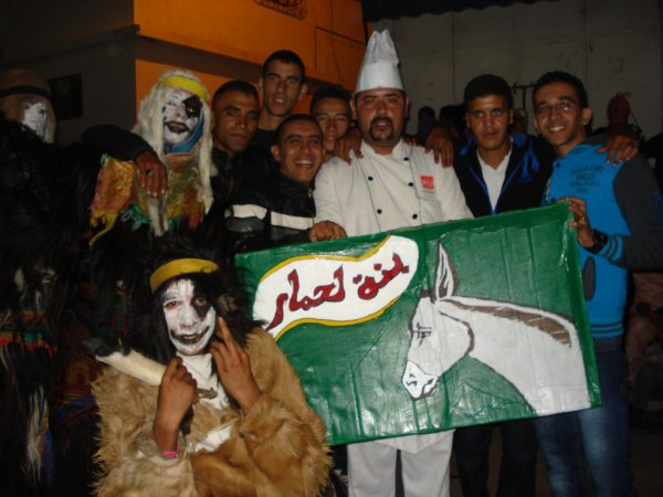 """cé """"boujloud"""" le carnaval marocain d'agadir"""