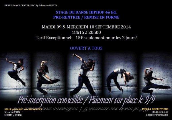 Stage de danse Pré-rentrée/remise en forme
