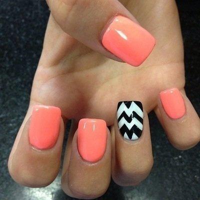 Nail art idéal pour l'été ❤️
