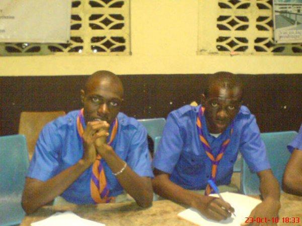 Agbaya Oshaut Richard & Aka N'Guetta Dorgelex le PG de la branche cheminot de Ste Therese