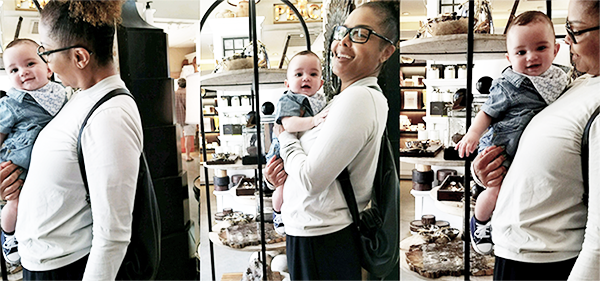 JANET & BABY EISSA SHOPPING IN LA