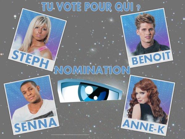 Semaine 7 ~ Nomination :
