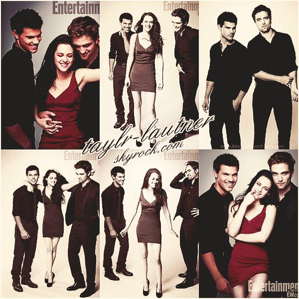 *  • Photoshoot de Taylor, Kristen et Robert pour « Entertainment Weekly » votre avis ?  *