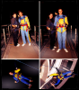 20/04/12 - Liam et Louis on fait du saut a l'elastique !