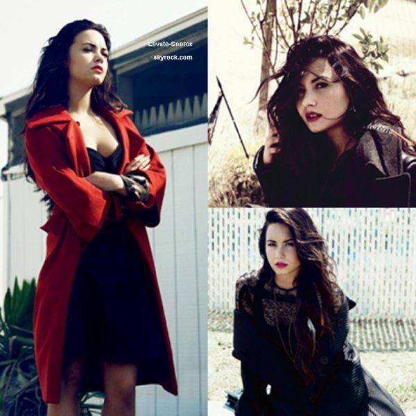 """Demi Lovato Pour Le Magasine """"Elle""""  Je La Trouve Tout  Simplement Magnifique !!"""
