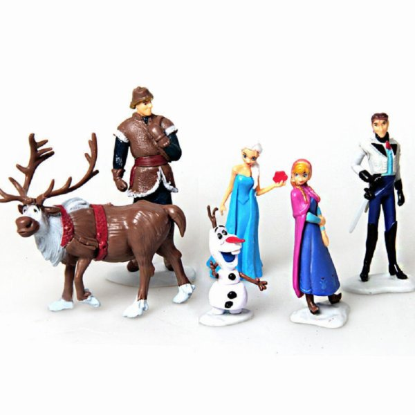 Lot de 6 figurines la reine des neiges