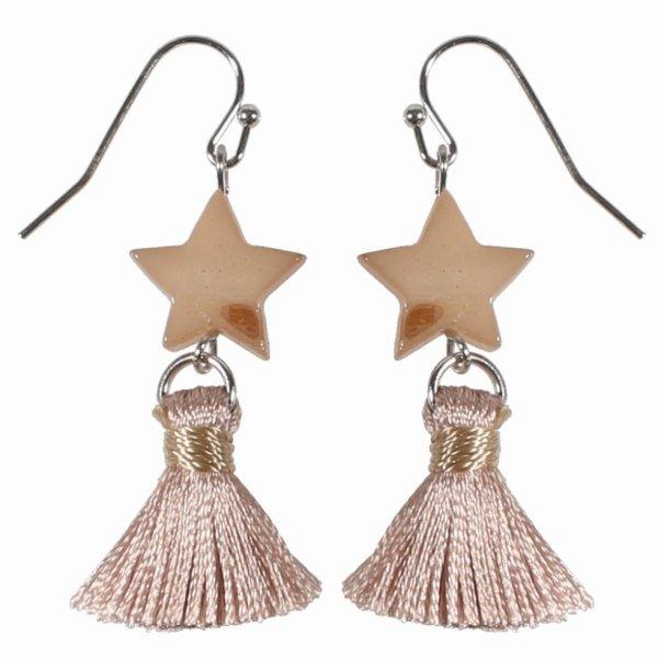 Boucles d'oreilles étoile et pompon