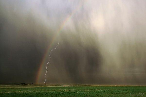 Arc en ciel et orage (2/2)