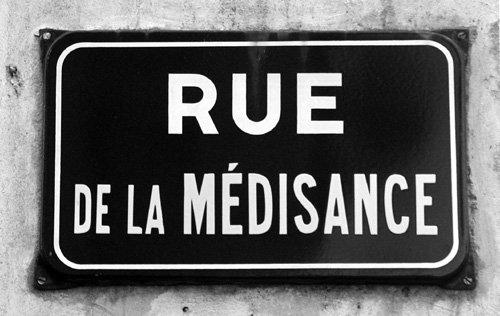 La Medisance., La Critique.