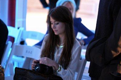 Mariannan a Barcelone au défilé de mode
