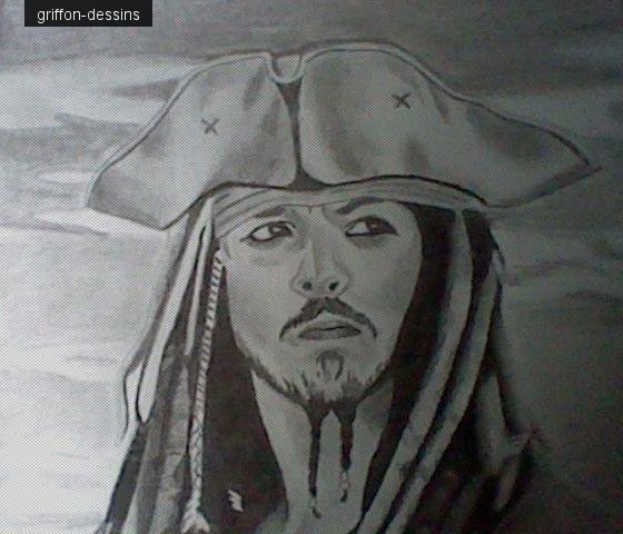 "Dessins Jack Sparrow""Johnny Depp"""