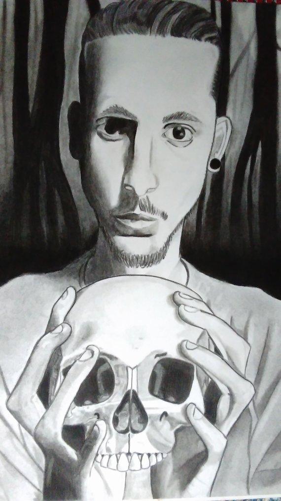 Autoportrait réalisé au fusain