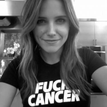 Photo de Sophia posté sur son site où elle récolte de l'argent contre le cancer.