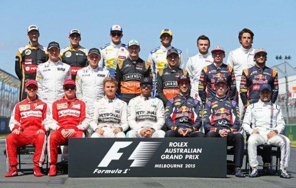 plateau de formule 1 2015 !!!