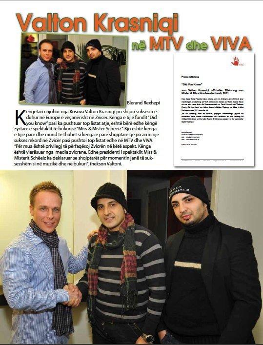Valton Krasniqi ne MTV dhe VIVA