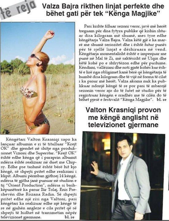 Valton Krasniqi provon me kenge anglisht ne televizionet gjermane
