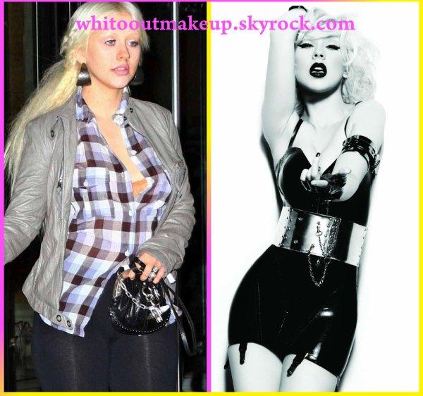 Christina Aguilera (sans retouche et après retouche photo)