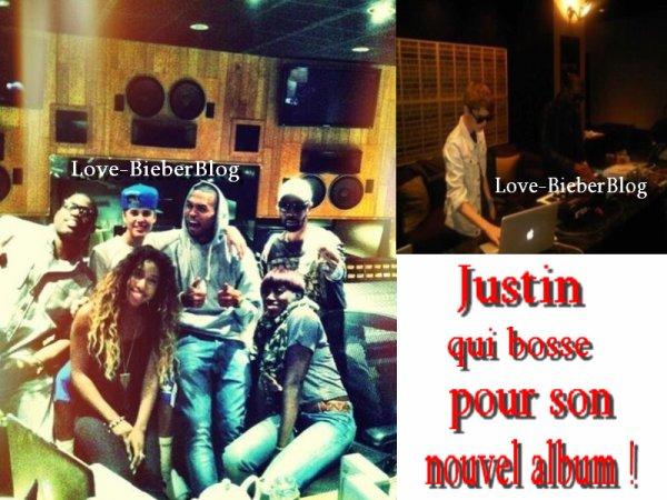 Glace inspirée par Justin Bieber , photo Instagram , en studio ,  Jiley !! ;)