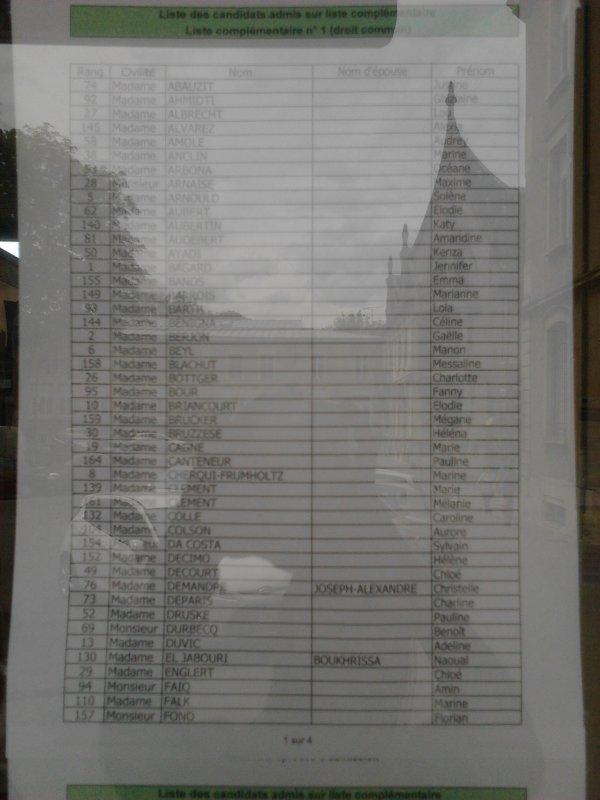 Liste complémentaire 1.