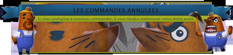 Commandes Annulées