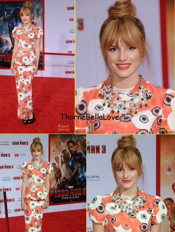 Bella Thorne à la première de Iron Man 3  le 24 avril