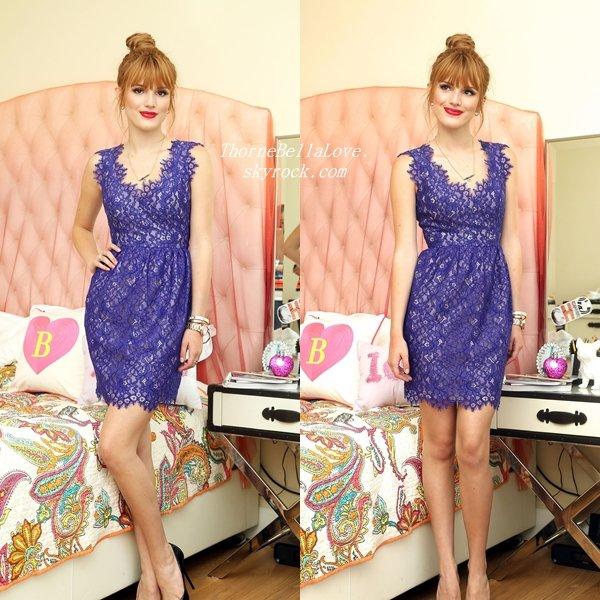 """Bella Thorne faisant un photoshoot pour le parfum """"Pink Princess"""""""
