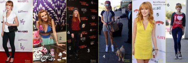 Quel était la meilleure tenue de Bella pendant le mois d'octobre