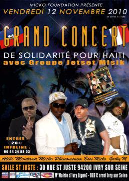 Concert de solidarité pour haîti