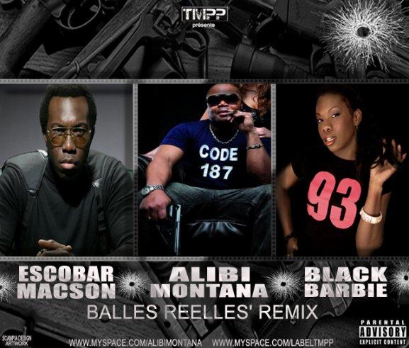 "REMIX ""BALLES REELLES"" FEAT. ESCOBAR MACSON/BLACK BARBIE"