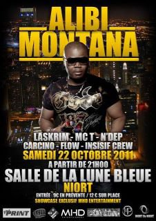 alibi montana en concert a niort le 22/10/11a partir de 21h