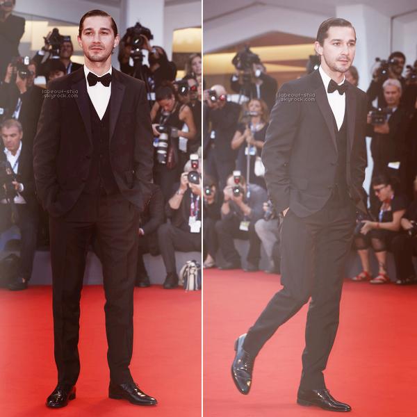06.09.2012 : Shia Labeouf était présents au festival de Venise pour le film The Company You Keep.  J'adore comment il a coupé ses cheveux ! sans barbe c'est trop beau je trouve ! il a beaucoup de classe.