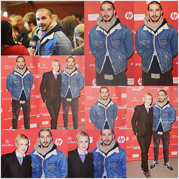 21 Janvier : Shia et sa co-star Evan Rachel Wood étaient à la premiere de The Necessary Death of Charlie Countryman au Sundance Film Festival au Eccles Center Theatre à Park City, Utah.