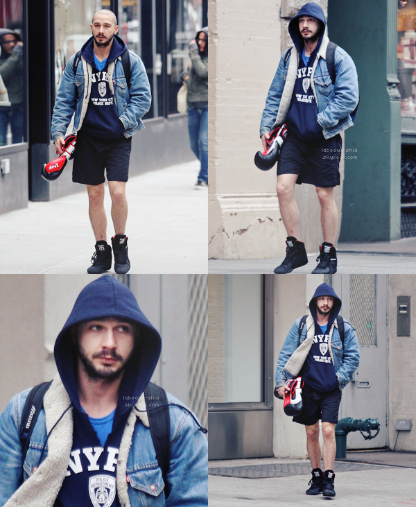 Le 01er Mars : Shia Labeouf a été vu quittant son cours de gym, à New York City.